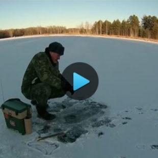 Видео о зимней рыбалке по первому льду
