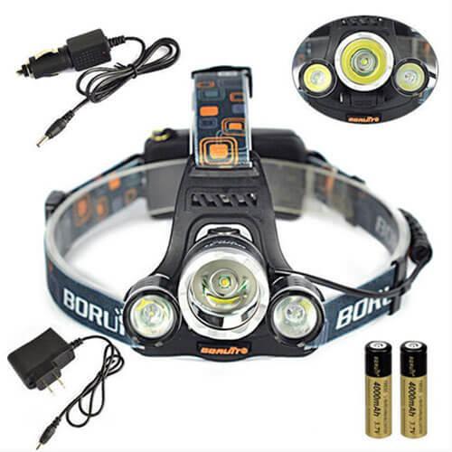 Комплект поставки фонарика Boruit HL 720