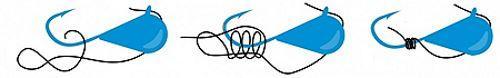 Как привязать мормышку с ушком