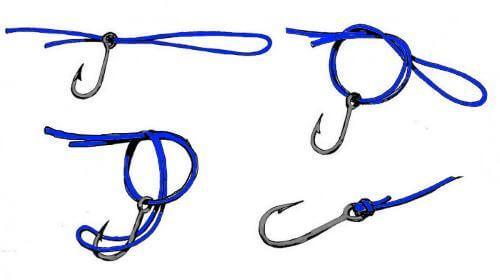 Как привязать вертлюжок к плетенке узлом паломар