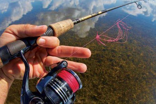 как рыбачить на плетенку