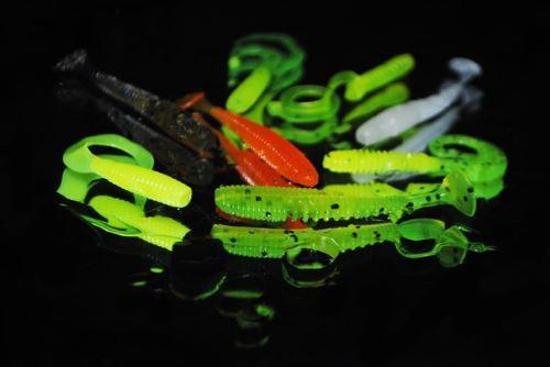 Твистеры и виброхвосты на окуня с отводным поводком