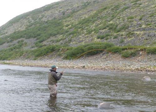 Ловля морской кумжи в Мурманске