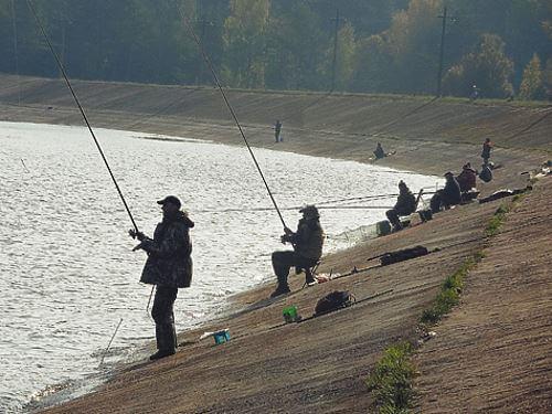 Ловля плотвы на озере