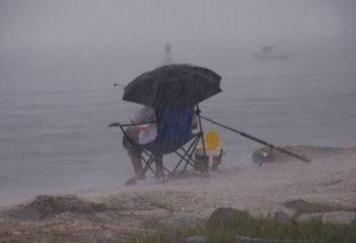 Температура и ветер во время дождя