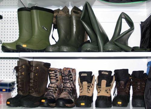 Виды обуви для рыбалки и охоты