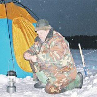 Ночная ловля леща зимой